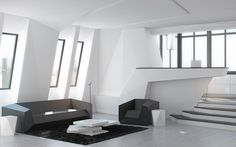 Studio Apartment Design Inspiration With Futuristic Interior Style - RooHome | Designs & Plans
