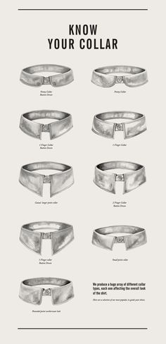 Collar Styles #menstyle #menswear #infographic #tipographics #stylish