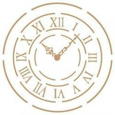 Stencil Deco Vintage Figura 011 Reloj