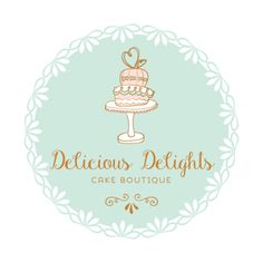 Premade Logo Design - Cake Logo Design - Customized with Your Business Name!