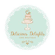Premade Logo Design - Cake Logo Design - Customized with Your Business Name!