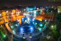 chisinau-by-night-kiri-photography-4 Moldova, Night Time, Romania, Europe, Sculpture, Drawing, Architecture, City, World