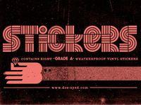 Sticker Pack typography