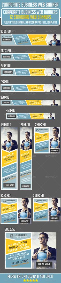 Corporate Business Web Banners Template PSD | Buy and Download: http://graphicriver.net/item/corporate-business-web-banners/7363969?WT.ac=category_thumb&WT.z_author=Asadktk&ref=ksioks