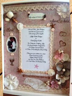 Custom Handmade Wedding Invitation Shadow Box by UniqueDesBoutique, $85.00
