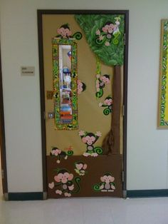 Monkey door | Classroom theme | Classroom decor | Classroom door ideas
