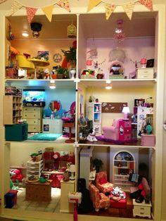 American Girl Doll Doll House Shelf House Pinterest