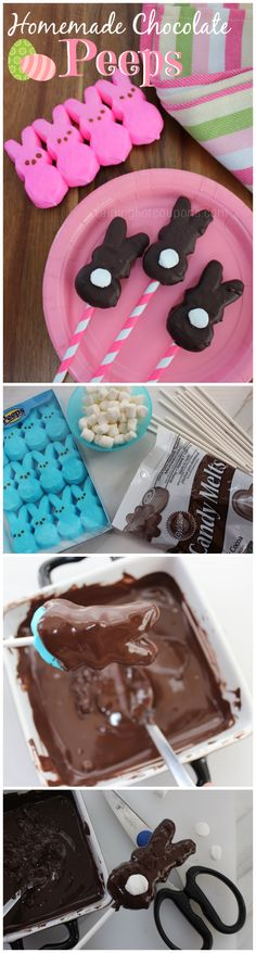 Homemade Chocolate Peeps