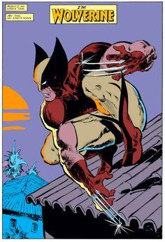 """I'm Wolverine"" From Marvel Comics Presents - Writer: Chris Claremont - Penciler: John Buscema - Inker: Klaus Janson - Colors: Glynis Oliver Comic Book Artists, Comic Book Characters, Comic Artist, Marvel Characters, Comic Books Art, Marvel Dc Comics, Hq Marvel, Marvel Universe, Uncanny Avengers"