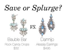 Save or Splurge? http://www.polishedclosets.com/blog/2014/3/13/save-or-splurge