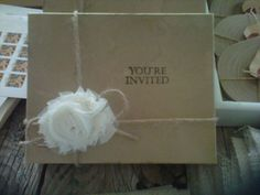 """Our """"vintage"""" invitations :  wedding Box Cover"""