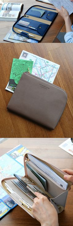 This is a practical book clutch with a modern and classy look! You can store a book inside along with a pen, cards, bills, documents and many others. It's a great daily clutch but it also makes a good travel clutch to carry a guidebook, maps, passport, note and other traveling items!