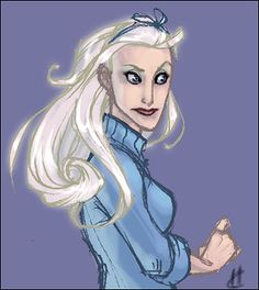 Fleur Delacour- she looks like an old aunt of mine. Long hair into her eighties and that thin 'youre worthless' mouth. :P