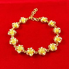 free ahipping 14 New Fashion,jewelry for women bracelets plating 24k yellow gold flower , C014 * Click on the image for additional details. http://www.amazon.com/gp/product/B00YAQGZ2C/?tag=jewelry3638-20&pwx=280916140049
