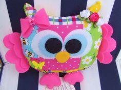Ready To Ship  Handmade Felt Owl Stuffed Owl by PlushiesTemple
