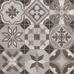 Bologna Grey 31.6cm x 31.6cm - Baked Tiles