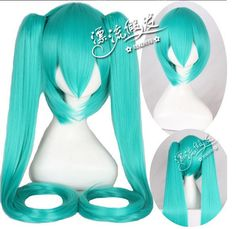 2013 Wholesale hot selling high quality Cosplay wig MIKU Hatsune Miku cos high temperature silk wig blue  free shipping $410.00