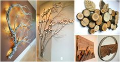 The best material for adding a warm touch into your home is of course wood. And besides buying wooden furniture, you can also buy or make some wood wall decorations. You can use different types