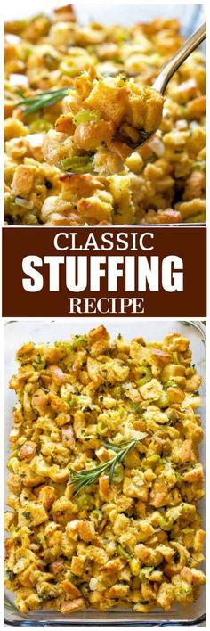 The Rise Of Private Label Brands In The Retail Meals Current Market This Is The Best Classic Stuffing Recipe With Bread, Onion, Butter, And Fresh Herbs. You Can't Go Wrong With This Thanksgiving Stuffing Recipe. Turkey Stuffing Recipes, Stuffing Recipes For Thanksgiving, Holiday Recipes, Dinner Recipes, Thanksgiving Food, Dinner Ideas, Sausage Stuffing, Holiday Meals, Family Recipes