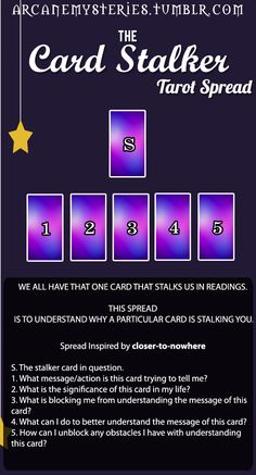 The Card Stalker Tarot Spread