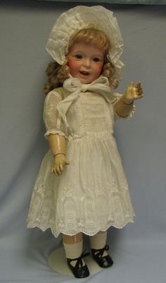 "29""Early SFBJ #236 French Toddler Character Doll Pretty Vintage from turnofthecenturyantiques on Ruby Lane"