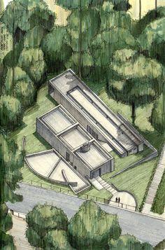 Galeria de Clássicos da Arquitetura icônicos representados em perspectivas axonométricas - 19