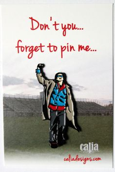 "Sweets. You couldn't ignore this pin if you tried. Inspired by John Bender from ""The Breakfast Club"" This soft enamel pin is 1.5"" tall with black metal plating and silver metal clutch.  This is the second pin of my 80's movies icons."