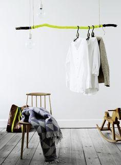 Cool DIY clothes rail by La Cerise Sur Le Gateau