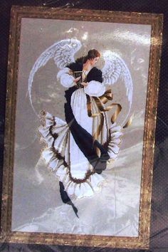 Lavender & Lace - Counted Cross Stitch Pattern Chart - Angel Of Hope