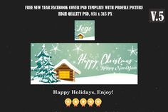 Free Christmas & Happy New Year Facebook Timeline Cover V.5 is Fully editable and all layers are Organized in PSD Template. Easy to edit. Creative Facebook Cover, Facebook Timeline Covers, Happy New Year Facebook, Free News, Psd Templates, Christmas And New Year, Happy Holidays, Layers, Easy