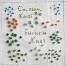 colonial knot (vs french knot!) #embroidery #tutorial