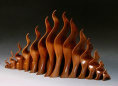 Tropical Mountain by Michael Mode, 2012. Made of storm downed mahogany from south Florida.