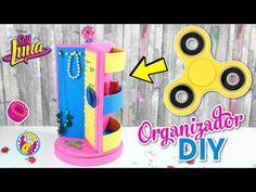 (5) DIY organizador GIRATORIO de SOY LUNA con un fidget SPINNER - YouTube