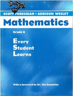Scott Foresman-Addison Wesley Mathematics Grade 6 Every Student Learns ©2004 isbn 0328075558 MA2