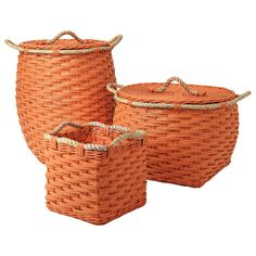 Rope Bin Collection - Orange | Serena & Lily