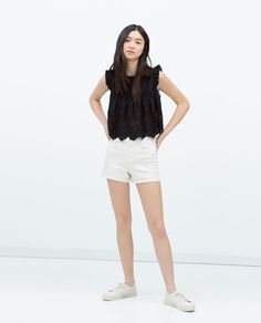 Image 1 of FLOUNCE SLEEVE TOP from Zara