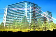 Urban Residential Building Electrification Concept - F4photographystudio Royalty Free Pictures, Royalty Free Stock Photos, Property Rights, Image Categories, Image Photography, Skyscraper, This Is Us, Multi Story Building, Concept