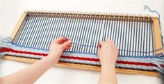 """10"""" and 15"""" loom extenders to do weaving on Authentic Knitting Board 10"""", 18"""", and 28"""" knitting boards. Great to make rugs, home decor, scarves, pillows and much more.  Comes with 2 sets of extenders, 2 wing nuts, instructions and project, and crochet hook."""