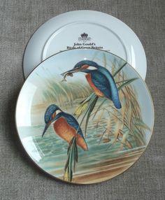 John Gould's Birds of Great Britain: The Kingfisher - Coalport