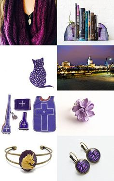 Purple and gold heart attack  by Elinor Levin on Etsy--Pinned with TreasuryPin.com