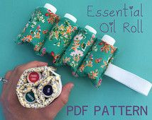 Essential Oil Carrying Roll Pattern PDF Essential Oil Holder, Essential Oil Case, Essential Oil Storage, Essential Oil Carrying Case, Sewing Hacks, Sewing Projects, Sewing Crafts, Costura Diy, Scrap Busters