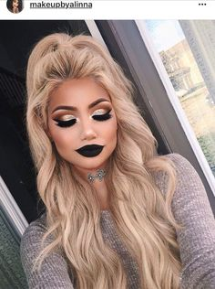 There is definitely too much happening on her face for a day to day look but it does all come together beautifully. Definitely a cool/pretty look for the right event