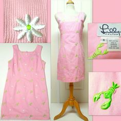 Lilly Pulitzer ~ Lobster & Flower Dress! 100% Cotton. Size 6. Don't Miss Out!  $39.95 + Free Shipping!   SOLD