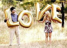 GANZ EIGENER STIL, um in den Bund der Ehe zu gelangen. Liebesbrief 40 cm/100 cm, Folie, Gold Buchstaben Luftballons