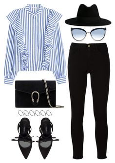 924 by dasha-volodina on Polyvore featuring polyvore, fashion, style, Frame, Zara, Gucci, ASOS, Yves Saint Laurent, Karl Lagerfeld and clothing