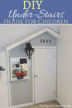DIY Under-Stairs House for Kids