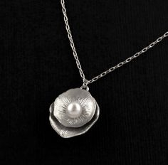 Sophisticated Silver Blossom and Freshwater Pearl Necklace