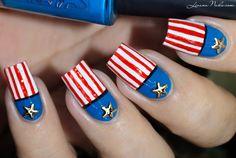 Nail Art - American Flag