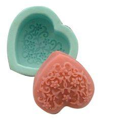 Amazon.com - Decorative Pattern Decoration Heart 0226 Craft Art Silicone Soap mold Craft Molds DIY