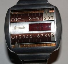 1970 Prototype Concept Calculator Watch by Litronix Retro Watches, High End Watches, Old Watches, Vintage Watches, Watches For Men, E Ink Display, Led Watch, Watch Brands, Digital Watch